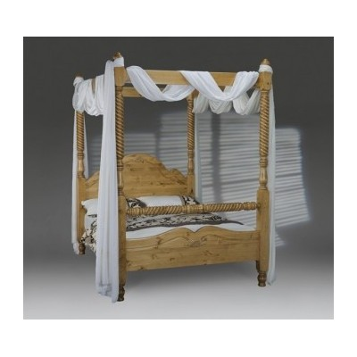 Four Poster Wooden Bed by Scan Pine Product Code: 4pwind