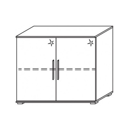 Venice 2 Door Chest Front High Polish With Low Feet Product Code: VEN2DCHPFLF