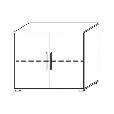 Venice 2 Door Chest Front Glass Overlay With Low Feet Product Code: VEN2DCGOFLF
