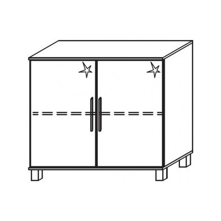 Venice 2 Door Chest Front High Polish With High Feet Product Code: VEN2DCHPFHF