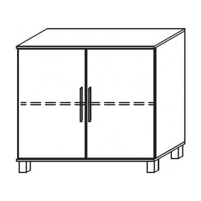 Venice 2 Door Chest Front Glass Overlay With High Feet Product Code: VEN2DCGOFHF