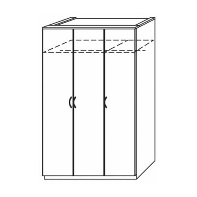 Lima Kent Hinged 3 Door Wardrobe Product Code: LIMA3HDWR