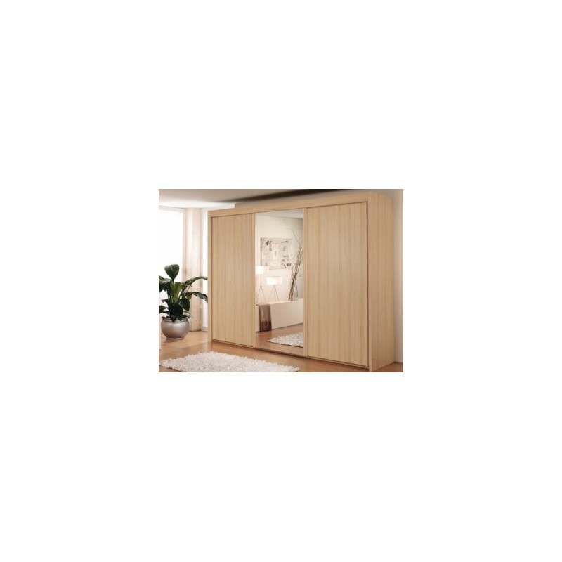 Lima Imperial 3 Sliding Door Wardrobe 250cm With 1 Mirror Door