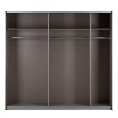 New York Sliding Door Wardrobe Mirrors and Sonoma Oak 226cm