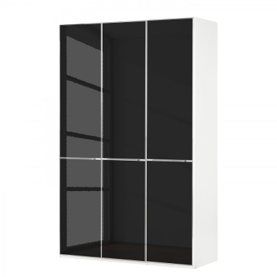 Wiemann Shanghai Wardrobe 3 door 150 cm White with White Glass