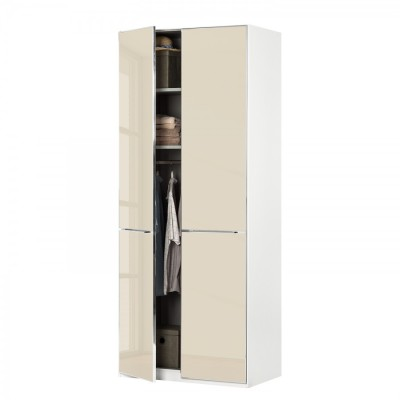 Wiemann Shanghai Wardrobe 1 door 100 cm White with Black Glass