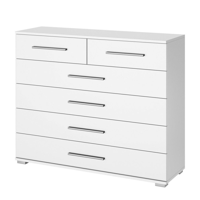 Venice 2+4 Drawer Combi Chest Wood Finish With Base Product Code: VEN2+4DCCWFB