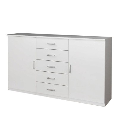 Venice 2 Door 5 Drawer Combi Chest Wood Finish With Base Product Code: VEN2D5DCCWFB