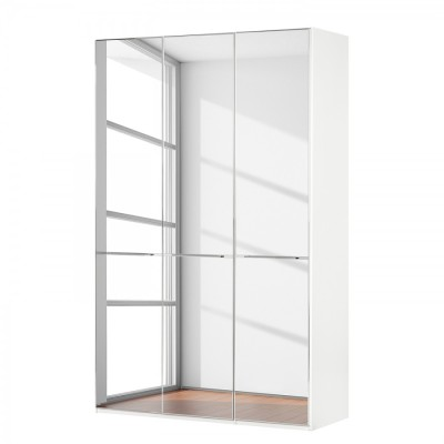 Wiemann Shanghai Wardrobe 3 door 150 cm White with Mirror Glass