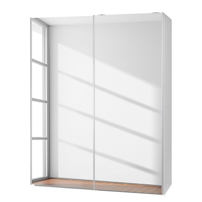 Fully Mirrored Sophia Sliding door Wardrobes White