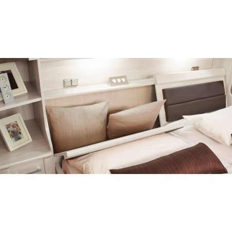 Luxor overbed system double bed with bed box
