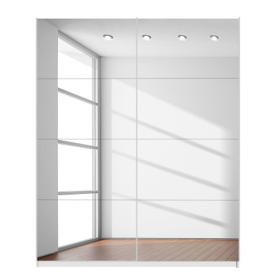 Rita Base 2 Sliding Door Wardrobe 181cm Front Full Mirror