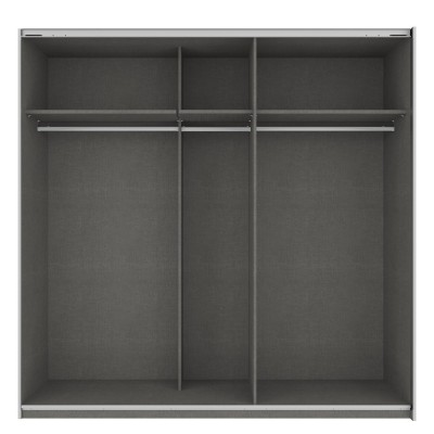 Rita 2 Door Graphite Sliding Wardrobe 226cm with mirror