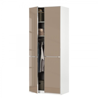 Wiemann Shanghai Wardrobe 1 door 100 cm White with Sahara Glass