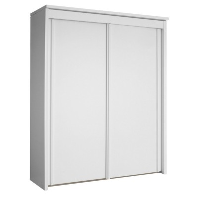 Wooden Decor 2 Sliding Door Wardrobe 201 Plain white plaza