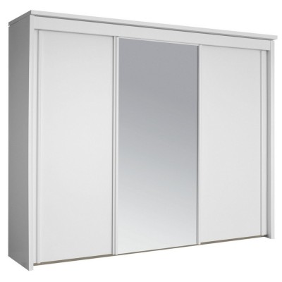 Plaza 3 Sliding Door Wardrobe 250cm With 1 Mirror Door