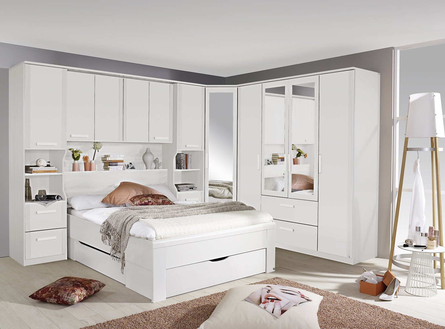 Uncategorized Pictures Over Bed white overbed wardrobe systems fitted bedroom furniture