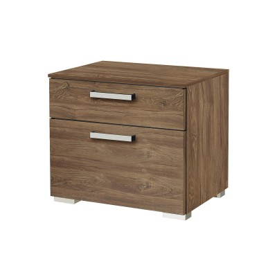Brisbane 2 drawer Stirling Oak bedside