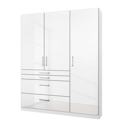Rauch Homburg 3 door White gloss Wardrobe