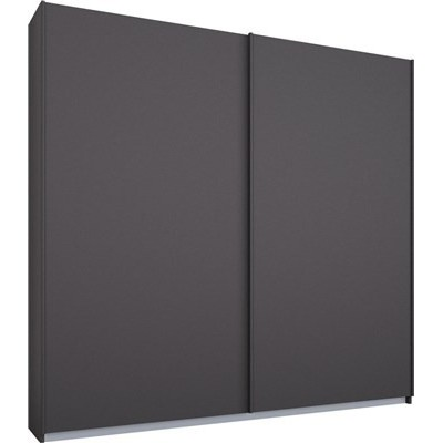 Essence Sliding Door Wardrobe Graphite Grey Frame Matt Graphite Grey Doors 181cm