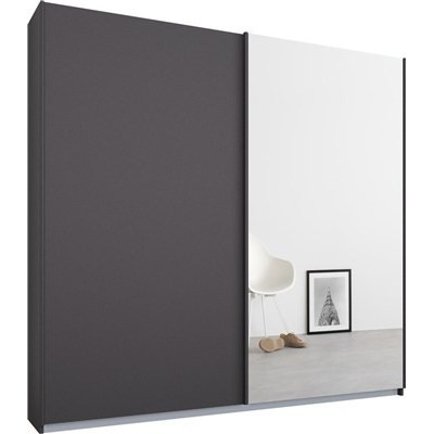 Essence Sliding Door Wardrobe Graphite Grey Frame Matt Graphite Grey Doors 1 Mirror