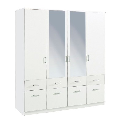 Bremen 4 door Hinged Combi Wardrobe