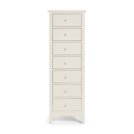 Cameo Stone White Bedroom furniture 7 Drawer Chest Product Code: cam7dr