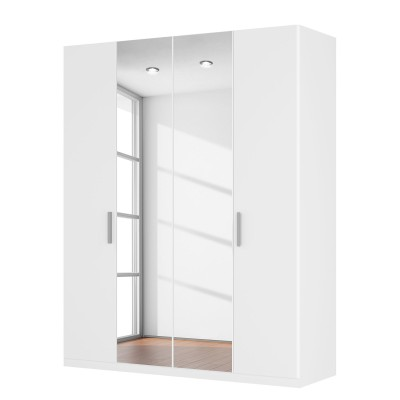 Harvard 4 Hinged Door White Centre Mirrored Wardrobe