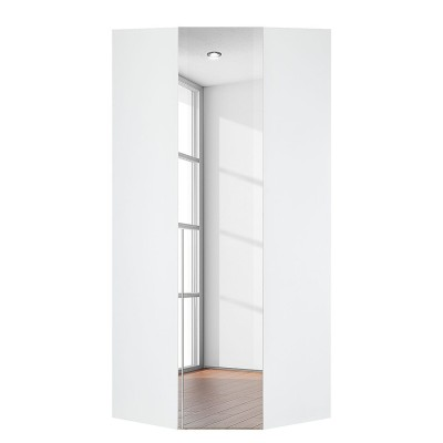 Harvard 1 Mirrored Door Corner Wardrobe Product Code: RaHar1drcrmr