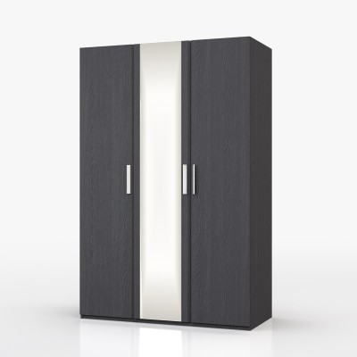 Waterfall 3 Door Mirror Graphite Wardrobe
