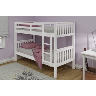 Mission White  Wooden Bunk Bed by simplybedrooms