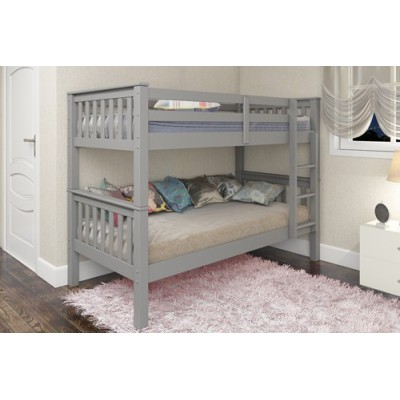 Mission Grey  Wooden Bunk Bed by simplybedrooms