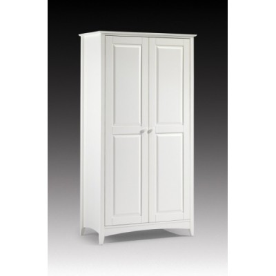 Cameo Stone White 2 door Wooden Wardrobe