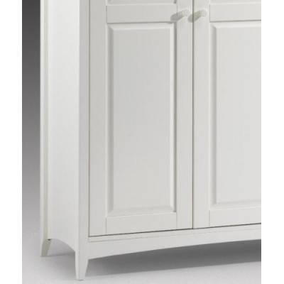Cameo Stone White 3 Door Wooden Wardrobe