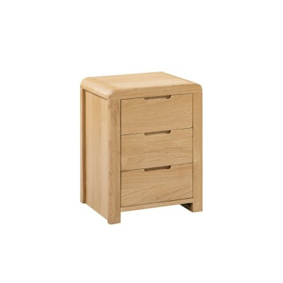 CURVE 3 DRAWER BEDSIDE