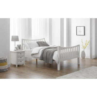 MADISON CURVED BED WHITE