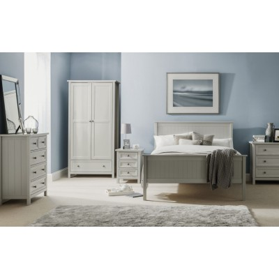 MAINE 6 DRAWER WIDE CHEST - DOVE GREY
