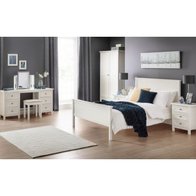 MAINE 3 DRAWER BEDSIDE - white
