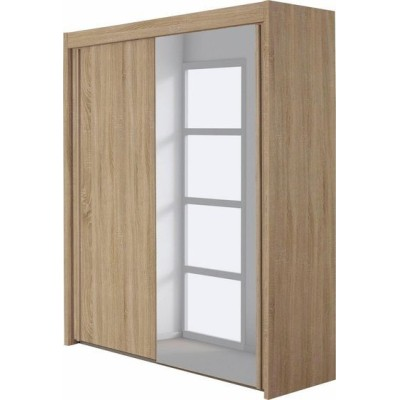 Lima Imperial 2 Sliding Door Wardrobe 181cm With 1 Mirror Door Product Code: LIMA2SDWR181MD