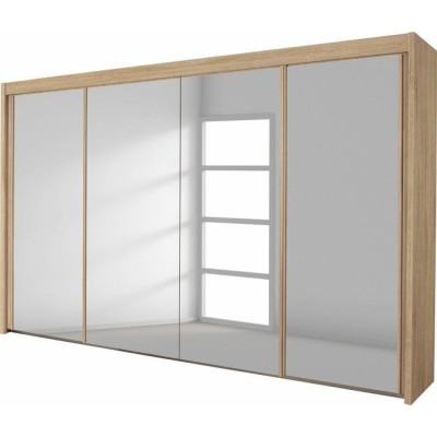 Lima Imperial Full Mirrored 4 Sliding Door Wardrobe 320cm Product Code: LIMAFM4SDWR320