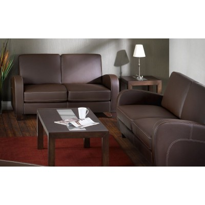 VIVO 3 SEATER  CHESTNUT FAUX LEATHER