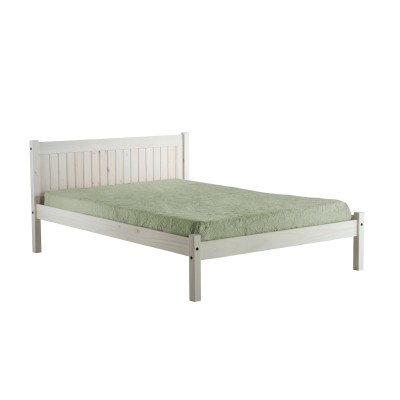 120cm Rio Bed White Washed