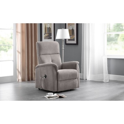 AVA RISE AND RECLINE CHAIR TAUPE FABRIC