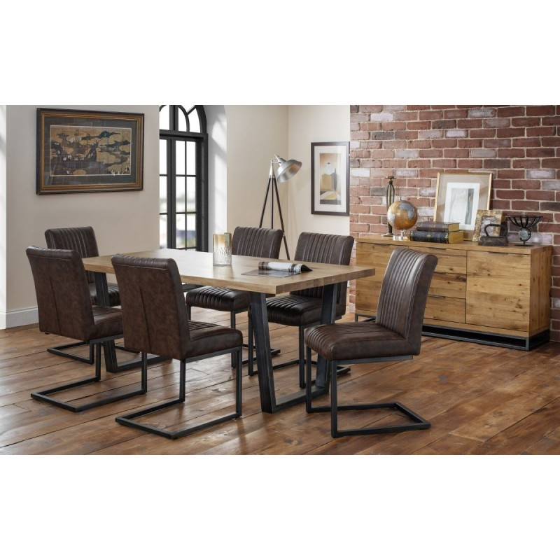 SET OF BROOKLYN DINING TABLE & 6 BROOKLYN CHAIRS