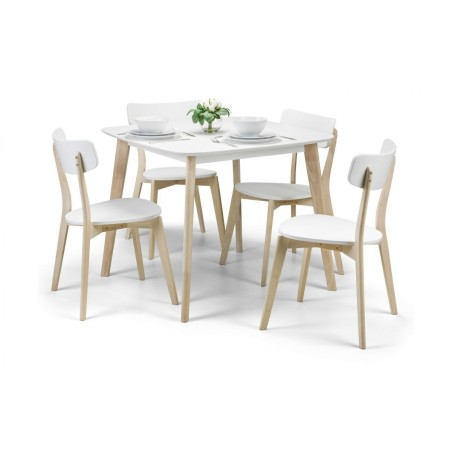 SET OF CASA DINING TABLE & 4 CHAIRS