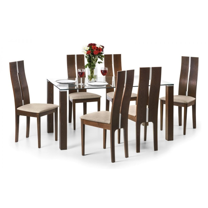 SET OF CAYMAN TABLE & 6 CAYMAN CHAIRS