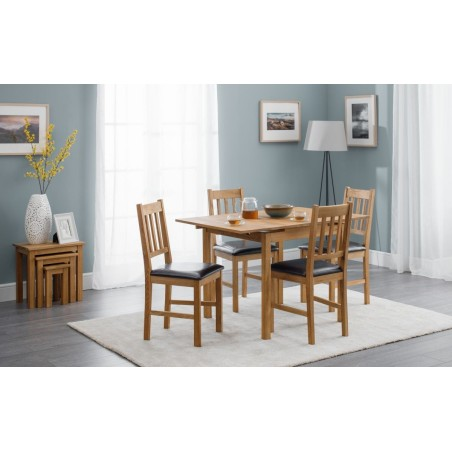 SET OF COXMOOR EXTENDING TABLE & 4 CHAIRS