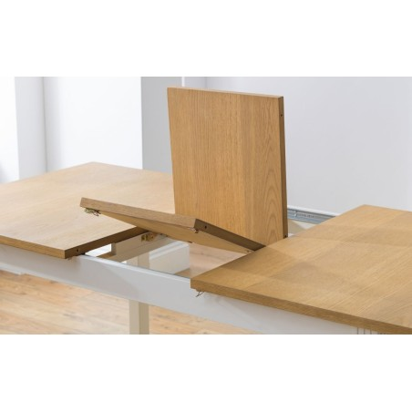 SET OF DAVENPORT EXTENDING TABLE & 6 CHAIRS