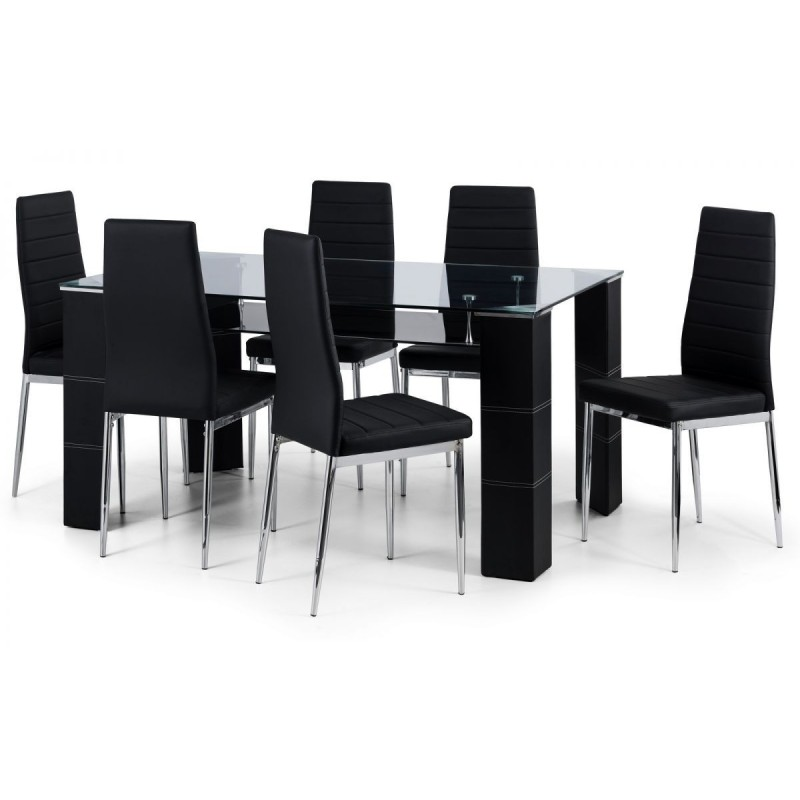 SET OF GREENWICH DINING TABLE & 6 GREENWICH CHAIRS