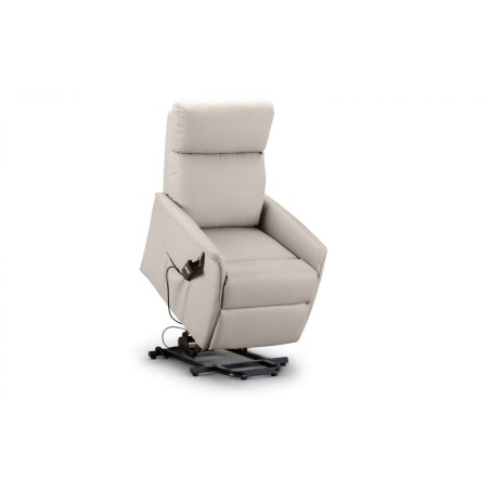 HELENA RISE & RECLINE CHAIR-  PEBBLE FAUX LEATHER